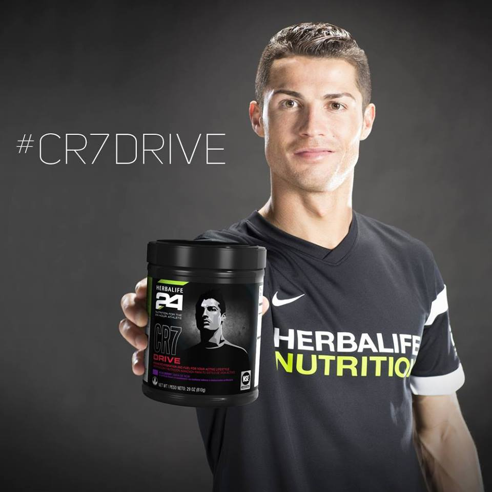 CR7 sponsor Herbalife