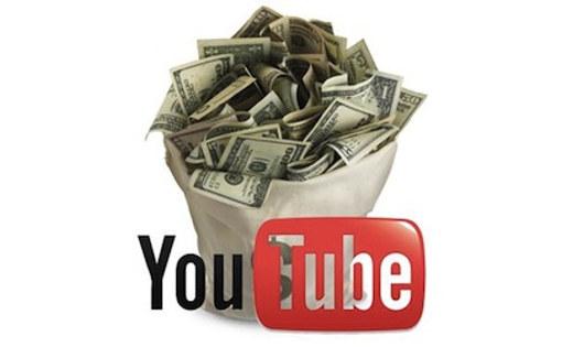 Secchio di soldi con Youtube