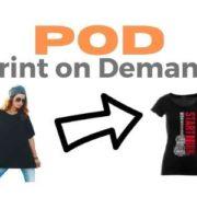 Print on Demand con esempio maglietta nera